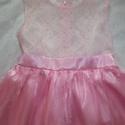 Csipkés rózsaszín ruha, Ruha, divat, cipő, Gyerekruha, Gyerek (4-10 év), Alkalmi, elegáns gyermekruha?  Szeretné kislányod néha hercegnőnek érezni magát?  Szívesen táncol az..., Meska