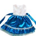 Jégvarázs kék ruha, Ruha, divat, cipő, Gyerekruha, Gyerek (4-10 év), Alkalmi, elegáns gyermekruha?  Szeretné kislányod néha hercegnőnek érezni magát?  Szívesen táncol az..., Meska