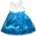 Kék alkalmi ruha, Ruha, divat, cipő, Gyerekruha, Gyerek (4-10 év), Alkalmi, elegáns gyermekruha?  Szeretné kislányod néha hercegnőnek érezni magát?  Szívesen táncol az..., Meska