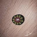 Festett kavics, Mindenmás, Dekoráció, Akril festékkel, kézzel festett, majd lakkozott kavics.  Mérete kb. 3 cm., Meska