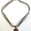 Nyaklánc, Ékszer, Nyaklánc, Medál, Kedves látogatók. Ezt a gyönyörű 40 cm hosszú organza nyakláncot kínálom eladásra, melyet ..., Meska