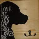 """Póráztartó """"I Love My Dog"""", Állatfelszerelések, Dekoráció, Férfiaknak, Otthon, lakberendezés, """" I Love My Dog"""" Bár kutyusod biztos figyelmeztet hogy sétálni szeretne, nem árt ha belépvén a..., Meska"""