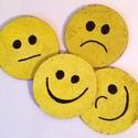 Poháralátét Smile, Konyhafelszerelés, Otthon, lakberendezés, Bögre, csésze, Tárolóeszköz, Vidám mosolygós poháralátétek  4 db/szett, Meska