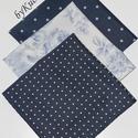 Textil zsebkendő szett, öko zsebkendő szett - kék , Textil zsebkendő - öko zsebkendő - kék  Finom ...