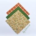 Textil zsebkendő szett, öko zsebkendő szett - zöld, sárga, Ruha, divat, cipő, Szépségápolás, Egészségmegőrzés, Fürdőszobai kellék, Textil zsebkendő - öko zsebkendő - zöld, sárga  Finom pamutvászonból készült zsebkendő szett, mely 3..., Meska