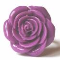 Lila műanyag rózsa gyűrű, Ékszer, Gyűrű, A rózsa átmérője 2.5 cm, a boltomban találsz több színben is,nézz körül és ha valami megt..., Meska