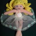 Balerina baba, Játék, Baba játék, Horgolás, Varrás, Egyedi tervezésű, minden részletében kézzel készült balerina baba. Tüll szoknyáját apró flitterek d..., Meska