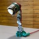 Autóalkatrészből Led asztali lámpa, Otthon, lakberendezés, Lámpa, Asztali lámpa, Állólámpa, Mindenmás, Dugattyúból és szervó pumpa alkatrészeiből készítettem ezt az asztali lámpát. A Led izzó GU10-es fo..., Meska