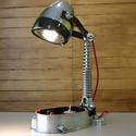 Motor alkatrészből lámpa ( motor blokk, lengéscsillapító), Férfiaknak, Otthon, lakberendezés, Lámpa, Asztali lámpa, Mindenmás, Motor alkatrészből készített lámpa.  Igazán egyedi hangulatú asztali lámpa amely régebbi tipusú mot..., Meska