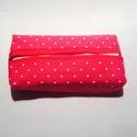 Zsebkendő tartó - pöttyös, Táska, 10,5x5,5x2,5 cm, Meska