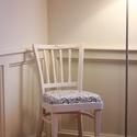 Vintage székek , Bútor, Szék, fotel, Famegmunkálás, Szuper felújított székek vintage stílusban. Új kárpittal, szivacs ülőpárnával. 4db szék van, jó len..., Meska