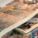 Amerika Kapitány képregényes asztal, Bútor, Asztal, Famegmunkálás, Captain america képregény témájú konzolasztal. Régi, én csak restauráltam. Valamikor az 1970-es éve..., Meska