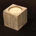 Design beton mécsestartó I., Otthon, lakberendezés, Gyertya, mécses, gyertyatartó, Design beton mécsestartó, négy féle tipusban. Az egyes darabok minimálisan eltérnek egymástó..., Meska