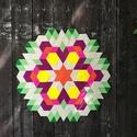 Textil mozaik matrica készlet - MANDALA I., Dekoráció, Játék, Otthon, lakberendezés, Készségfejlesztő játék, Mozaik, Újrahasznosított alapanyagból készült termékek,  A caraWonga mandalái egy olyan DIY készlet, mely öntapadós, színes textil mozaik darabkákat tartal..., Meska