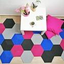Moduláris szőnyeg - BLUE BEE , Otthon, lakberendezés, Lakástextil, Szőnyeg, 211×117 cm  TERVEZD MEG ÉS ÁLLÍTSD ÖSSZE ÁLMAID SZŐNYEGÉT!  Az otthonod rólad szól és az egyéniséged..., Meska