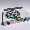 Textil mozaik matrica készlet- MANDALA VII., Játék, Dekoráció, Otthon, lakberendezés, Készségfejlesztő játék, A caraWonga mandalái egy olyan DIY készlet, mely öntapadós, színes textil mozaik darabkákat tartalma..., Meska