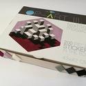 Textil mozaik matrica készlet - OP-ART III., Dekoráció, Játék, Otthon, lakberendezés, Készségfejlesztő játék, A caraWonga mandalái egy olyan DIY készlet, mely öntapadós, színes textil mozaik darabkákat tartalma..., Meska