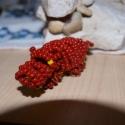 Víziló gyöngyállat, Játék, Dekoráció, Játékfigura, Dísz, Ez a víziló közel 6 cm hosszú,  magassága 3.5 cm.  Bordó és sárga kásagyöngyből készült..., Meska