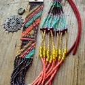 'Patterns of summer' gyöngyszövött nyaklánc, Ékszer, Nyaklánc, Gyöngyfűzés, gyöngyhímzés, Ékszerkészítés, A merész színek és minták szerelmese vagy? Akkor ez a nyaklánc Neked készült! :)   A gyöngyszövött ..., Meska