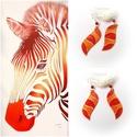 Narancs zebra fülbevaló, Ékszer, óra, Fülbevaló, Üvegművészet, Ékszerkészítés, Egyedi, kézzel festett, gyöngyház fülbevaló, karneol ásványgyönggyel díszítve.  A narancs színek ze..., Meska