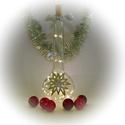Ezüst csillag lámpa - karácsonyi dekoráció, Otthon, lakberendezés, Dekoráció, Karácsonyi, adventi apróságok, Lámpa, Ünnepi dekoráció, Karácsonyi dekoráció, Festett tárgyak, Üvegművészet, Ez a kézzel festet karácsonyi üveg tökéletes központja a karácsonyi asztalnak, kiemelkedő dekoráció..., Meska