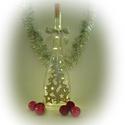 Ezüst csillagok lámpa - karácsonyi dekoráció, Otthon, lakberendezés, Dekoráció, Lámpa, Ünnepi dekoráció, Festett tárgyak, Üvegművészet, Ez a kézzel festet karácsonyi üveg tökéletes központja a karácsonyi asztalnak, kiemelkedő dekoráció..., Meska