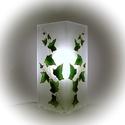 Borostyán hangulatlámpa - asztali lámpa - felirattal is kérhető, Esküvő, Otthon, lakberendezés, Nászajándék, Lámpa, Festett tárgyak, Egyedi, kézzel festett hangulatlámpa.  A régi görög papok egy köteg borostyánt nyújtottak át az egy..., Meska