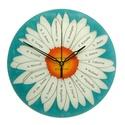 Ballagásra feliratos virág óra - pedagógusnak, Otthon, lakberendezés, Dekoráció, Falióra, óra, Kép, Kézzel festett, egyedi, üveg falióra.  Az órát úgy álmodtam meg, hogy alkalmas legyen ballagási aján..., Meska