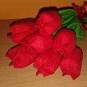 Tavaszi tulipánok (7db/szett), Otthon, lakberendezés, Nálatok milyen színű a tavasz?  Nálunk piros. Sőt a karácsonyunk is (de ez már más tészta). Élénk pi..., Meska