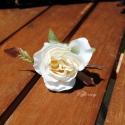 Rózsa hajdísz - fehér színben
