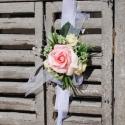 Csuklódísz rózsaszín habózsából, Divatos kiegészítője az esküvőknek a csuklód...