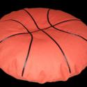 Strapabíró Babzsák ülő párna , Bútor, Babzsák, BABZSÁK ÜLLŐPÁRNA Kosárlabda  80cm átmérő De bármilyen méretben rendelhető!  - erős, str..., Meska