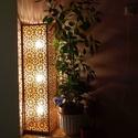 Marokkói mintás állólámpa, hangulatvilágítás, Otthon, lakberendezés, Dekoráció, Lámpa, Asztali lámpa, Kellemes, izgalmas, romantikus hangulatot árasztó asztali lámpa, gesztenye színben.  3 db 7W -os..., Meska