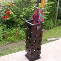 'DESIGN' esernyőtartó fából, Otthon, lakberendezés, Dekoráció, Tárolóeszköz, Fából készült esernyőtartó.  Mérete: 50 x 15 x 15 cm  , Meska