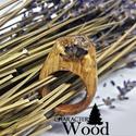 AKCIÓ! -30% 7.890Ft helyett 5.525Ft Levendula gyűrű, Ékszer, Gyűrű, Tölgyfa alapból készített gyűrű. A levendula gyantába van zárva, ami meggátolja a virág ox..., Meska