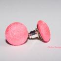 Disco pink fülbevaló , Nikkelmentes fülbevaló alapra készült. A gombo...