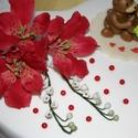Alstroemeria- Inkaliliom ,gyöngyvirág tortadekoráció, Dekoráció, Esküvő, Ünnepi dekoráció, Esküvői dekoráció, Asztaldísz, Mindenmás, Alstroemeria-Inkaliliom  és gyöngyvirág csokor!   Egyedi kézzel, drótozott technikával készített cu..., Meska