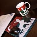 Szett Zongorán sétáló macska Egérpad, Bögre +ajándék, Konyhafelszerelés, Bögre, csésze, Mindenmás, Kerámia,  Ajándék! 1db szemüvegtörlő, monitortörlő.. Ezzel az egérpaddal és a hozzá tartozó bögrével feldobh..., Meska