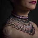 Freesia gyöngygallér, Ékszer, Nyaklánc, Eladó népi ihletésű, sok színű gyöngyökből készült egyedi, kézzel készített női nyakl..., Meska