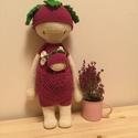 Virág baba, Játék, Plüssállat, rongyjáték, Játékfigura, Virág baba, made by Cicumi.   Kérésre más színből is elkészítem.  Magassága kb. 40 cm.  , Meska