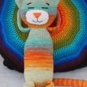 Maxim - horgolt cica amigurumi, Játék, Plüssállat, rongyjáték, Horgolás, Maxim kedvenc időtöltése a szundikálás a napon egy pihepuha párnán. :-) Színátmenetes fonalból horg..., Meska