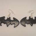 Batman kerámia szett , Ékszer, óra, Ruha, divat, cipő, Ékszerszett, Kerámia, Ékszerkészítés, Mindörökké Batman szett kerámiából, fülbevaló nyaklánccal.   Vízálló, és időtálló darabok.  A nyakl..., Meska