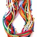 HYBRIO Multikolor  sokszálas, csomózott sál-nyaklánc , Ékszer, óra, Nyaklánc, Lágy vonalú óriásnyaklánc.  Hossza körbe: 200 cm. Többször körbe tudod tekerni a nyakad körül. Így s..., Meska