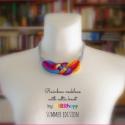 Szivárvány  textil, sokszálas nyaklánc - SUMMER EDITION, Ékszer, óra, Nyaklánc, Maga a szivárvány.:)  Hossza állítható. Klasszikus kelta csomós nyaklánc kizárólag textilből készítv..., Meska