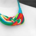 Papagáj színű  textil, sokszálas nyaklánc - SUMMER EDITION, Ékszer, óra, Nyaklánc, Parrot colors.  Hossza állítható. Klasszikus kelta csomós nyaklánc kizárólag textilből készítve. Nem..., Meska