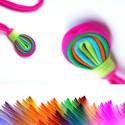 LOOG - medálos textilnyaklánc papagáj S/S2015, Ékszer, óra, Nyaklánc, Azoknak, akik nem szeretik a formájuknál fogva hangsúlyos darabokat, de a színek elvarázsolják őket...., Meska
