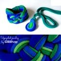 LOOG nyaklánc +kelta csomós karkötő - kék/zöld, Ékszer, Nyaklánc, Visszafogott, csepp alakú medálos nyaklánc: LOOG, melyet vonzanak a lengébb ruhadarabok, nyári felső..., Meska