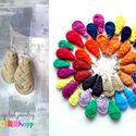 Textilfülbevaló - csepp alakú - drapp, Ékszer, óra, Fülbevaló, Puha, csepp alakú fülbevaló textilből készítve.   Hossza kb 4-5cm + nikkelmentes szerelék.  Kérhető ..., Meska