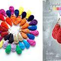 Textilfülbevaló - csepp alakú - rozsda, Ékszer, óra, Fülbevaló, Puha, csepp alakú fülbevaló textilből készítve.   Hossza kb 4-5cm + nikkelmentes szerelék.  Kérhető ..., Meska