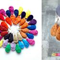 Textilfülbevaló - csepp alakú - világos barna, Ékszer, óra, Fülbevaló, Puha, csepp alakú fülbevaló textilből készítve.   Hossza kb 4-5cm + nikkelmentes szerelék.  Kérhető ..., Meska